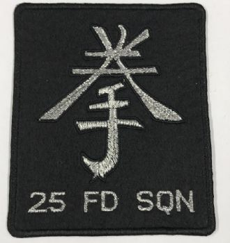 25 FD SQN Embroidered Blazer Badge